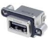 Zásuvka USB A do panelu, šroubovací THT přímý nízkoprofilové