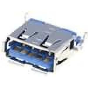 Zásuvka USB A SMT vodorovné vyosené vývody V USB 3.0