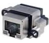 Konektor RJ45 zásuvka UL94V-0 IP68 THT do panelu přímý