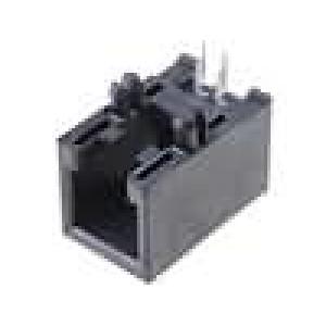 Konektor RJ9 zásuvka 4 PIN Kat:3 nízkoprofilové THT