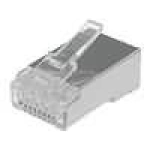 Konektor RJ45 zástrčka 8 PIN Kat:6 stíněný IDC, krimpovací