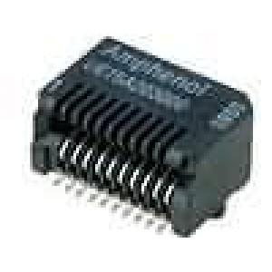 Zásuvka SFP PIN:20 zlacený 500mA 300V SMT vodorovné