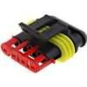 Konektor vodič-vodič Superseal 1.5 zástrčka zásuvka 4PIN