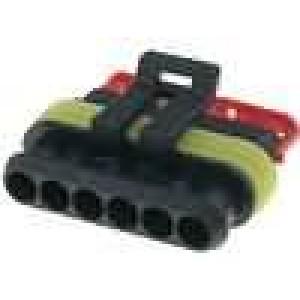 Konektor vodič-vodič Superseal 1.5 zástrčka zásuvka PIN:6