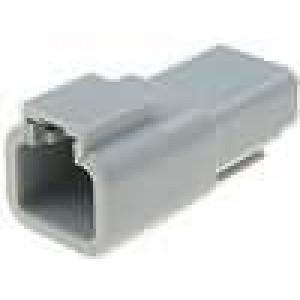 Konektor vodič-vodič ATP zástrčka vidlice 2PIN na kabel
