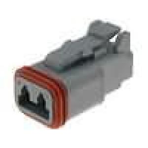 Konektor vodič-vodič DT zástrčka zásuvka 2PIN na kabel