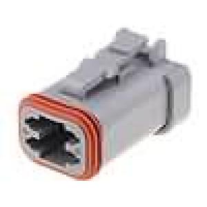 Konektor vodič-vodič DT zástrčka zásuvka 4 PIN barva šedá