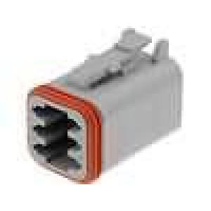 Konektor vodič-vodič DT zástrčka zásuvka 6 PINna kabel
