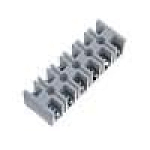Svorkovnice póly:6 šroubová svorka 10mm2 61A bilá 500V