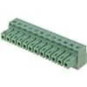 Rozpojovací svorkovnice zásuvka 0,5-1,5mm2 3,81mm 12PIN 7A