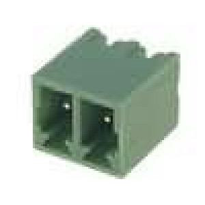 Rozpojovací svorkovnice zásuvka vidlice přímý 3,81mm póly:2