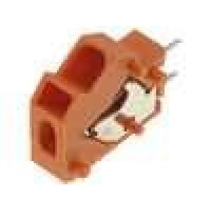 Svorkovnice úhlové 45° 5mm THT, pružinové svorky póly:1 24A
