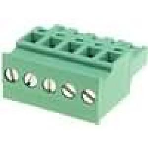 Rozpojovací svorkovnice 5mm póly:5 úhlový zástrčka zásuvka