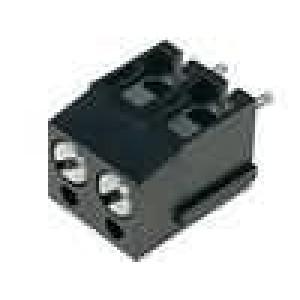 Svorkovnice úhlové 90° 2,5mm2 5mm póly:2 pocínovaný 24A 300V