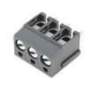 Svorkovnice úhlové 90° 2,5mm2 5mm 3 PIN pocínovaný 24A šedá