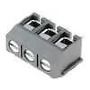 Svorkovnice úhlové 90° 2,5mm2 5mm 3 PIN pocínovaný 15A šedá