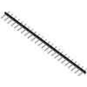 Rozpojovací svorkovnice kolíková lišta 5mm póly:24 10A černá