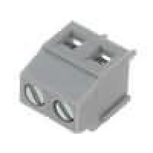 Svorkovnice úhlové 90° 1,5mm2 3,81mm póly:2 pocínovaný 10A