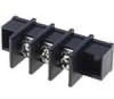 Svorkovnice přímý 4mm2 9,5mm THT, šroubové svorky, na panel