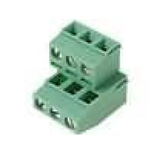 Svorkovnice patrové úhlové 90° 0,14-1,5mm2 5,08mm póly:6