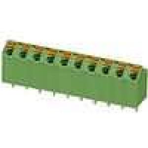 Svorkovnice úhlové 60° 5mm pružinové svorky póly:5 9A 250V