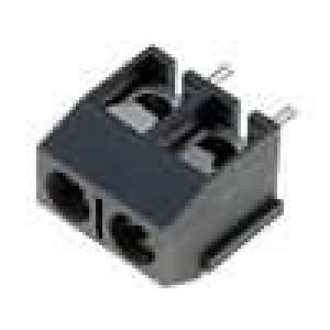 Svorkovnice přímý 2,5mm2 póly:2 16A šedá Kontakty mosaz 300V