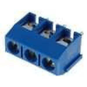Svorkovnice přímý 2,5mm2 3 PIN 16A modrá Kontakty mosaz