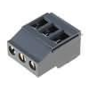 Svorkovnice úhlové 90° 0,5-4mm2 5mm 3 PIN pocínovaný 20A
