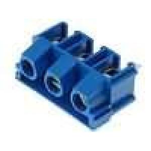 Svorkovnice úhlové 90° 7,5mm THT 3 PIN modrá