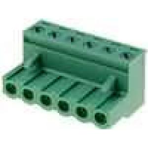 Rozpojovací svorkovnice zástrčka zásuvka přímý 5mm póly:6