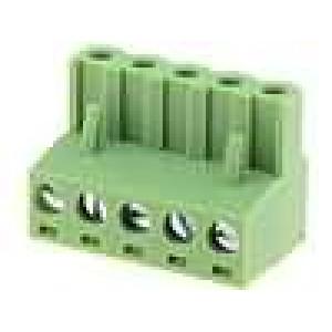 Rozpojovací svorkovnice zástrčka zásuvka přímý 5,08mm póly:5
