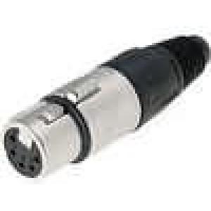Zástrčka XLR zásuvka 5 PIN přímý na kabel pájení 3,5-8mm