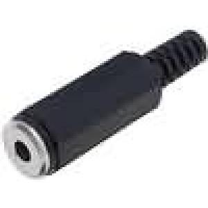 Zástrčka Jack 3,5 mm zásuvka mono přímý na kabel pájení 4mm