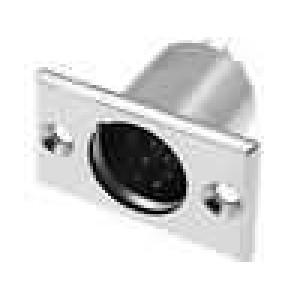 Zásuvka XLR vidlice 7 PIN  pájení upevnění 3mm průměr 19mm