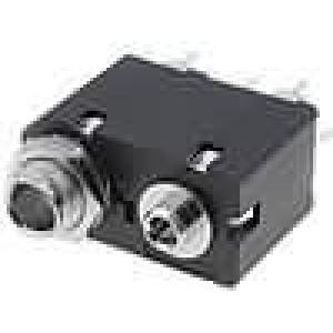 Zásuvka Jack 3,5 mm, Jack 6,35 mm zásuvka dvojité přímý THT