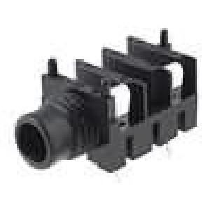 Zásuvka Jack 6,35 mm zásuvka mono, s vypínačem úhlové 90°