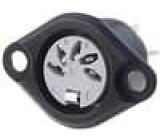 Zásuvka DIN zásuvka 5 PIN vývody 180° pájení 34V