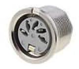 Zásuvka DIN zásuvka 5 PIN vývody 180° THT stříbřený