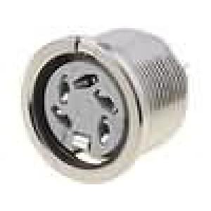 Zásuvka DIN zásuvka 5 PIN vývody 240° THT stříbřený