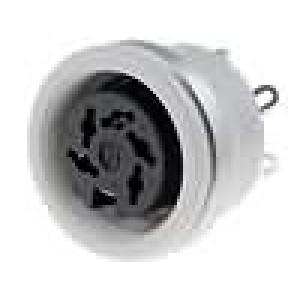 Zásuvka DIN zásuvka 5 PIN vývody 240° pájení