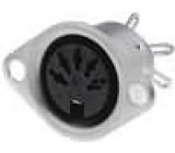 Zásuvka DIN zásuvka 5 PIN vývody 180° pájení