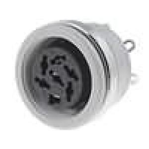 Zásuvka DIN zásuvka 6 PIN vývody 240° pájení