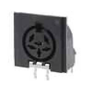 Zásuvka DIN zásuvka 6 PIN vývody 240° úhlové 90°