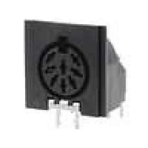 Zásuvka DIN zásuvka 8 PIN vývody 270° úhlové 90°