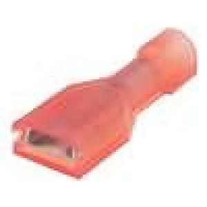 Konektor plochý 4,8mm 0,8mm zásuvka 0,3-0,9mm2 krimpovací