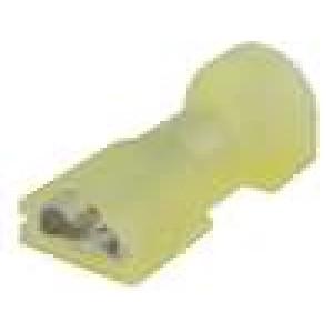 Konektor plochý 6,3mm 0,8mm zásuvka 3-6mm2 krimpovací