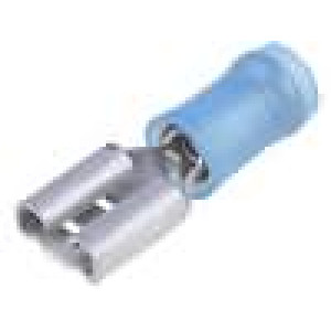 Konektor plochý 6,3mm 0,8mm zásuvka 1,25-2mm2 krimpovací