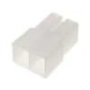 Návlek na konektor pro konektory 6,3mm se západkou póly:2