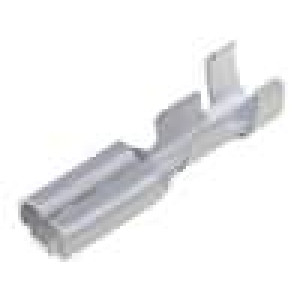 Konektor plochý 2,8mm 0,8mm zásuvka 0,5-1mm2 krimpovací