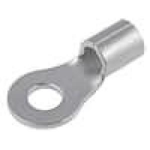 Zakončovací očko M4 3-6mm2 krimpovací na kabel neizolované